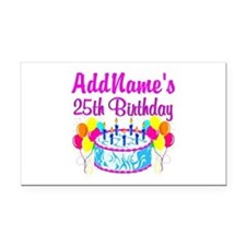 FABULOUS 25TH Rectangle Car Magnet