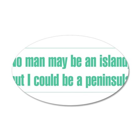 No man is an island, but I could be a peninsula 20