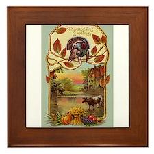 Thanksgiving Greetings Framed Tile