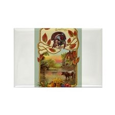 Thanksgiving Greetings Rectangle Magnet