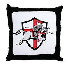 English Knight Riding Horse England Flag Retro Thr