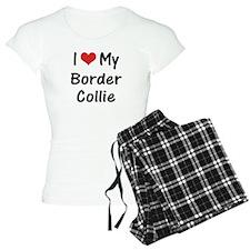 I Heart My Border Collie Pajamas