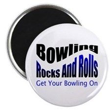 Bowling Rocks And Rolls Magnets