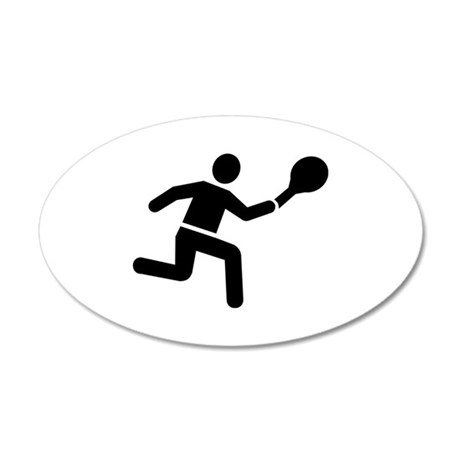 Tennis player logo 20x12 Oval Wall Decal