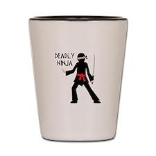 Deadly Ninja Shot Glass