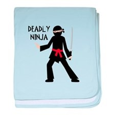 Deadly Ninja baby blanket