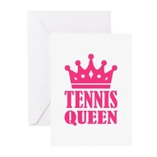 Tennis queen crown Greeting Cards (Pk of 10)