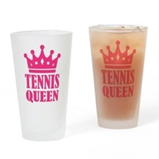 Tennis queen crown Drinking Glass