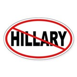 No Hillary Oval Bumper Stickers