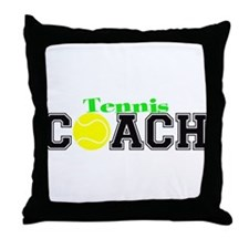 Tennis Coach Throw Pillow
