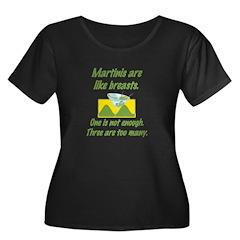 Martinis Women's Plus Size Scoop Neck Dark T-Shirt