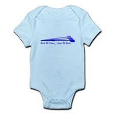 Live to Row - BLUE Infant Bodysuit