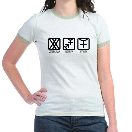 FemaleBoth to Female Jr. Ringer T-Shirt
