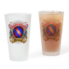 Marquez Family Crest Drinking Glass