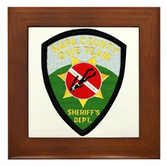 Napa Sheriff Dive Team Framed Tile