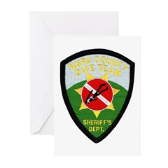 Napa Sheriff Dive Team Greeting Cards (Package of