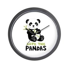 Save The Pandas Wall Clock