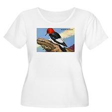 Red-Headed Woodpecker Bird (Front) T-Shirt