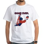 """Game Over"" White T-Shirt"