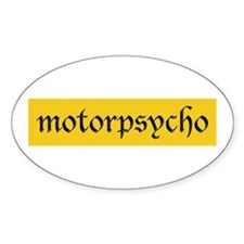 Motorcycle Psycho Oval Decal