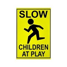 """Slow Children"" Rectangle Magnet"