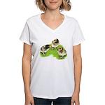 Brown Brabanter Chicks Women's V-Neck T-Shirt