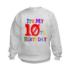 10th Birthday Kids Sweatshirt