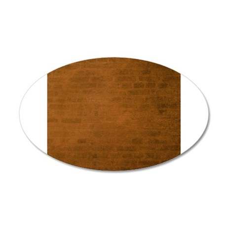 Burnt orange brick texture Wall Decal