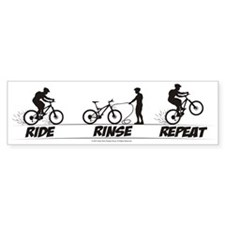 Ride Rinse Repeat Bumper Car Sticker