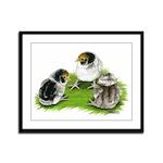 Creme Brabanter Chicks Framed Panel Print