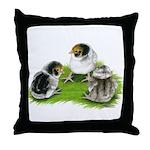 Creme Brabanter Chicks Throw Pillow
