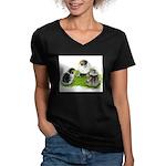 Creme Brabanter Chicks Women's V-Neck Dark T-Shirt