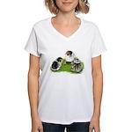 Creme Brabanter Chicks Women's V-Neck T-Shirt