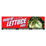 Head of Lettuce 2004 Bumper Car Sticker