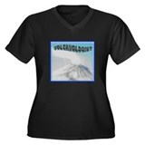 Volcanologist T-shirts Women's Plus Size V-Neck Da