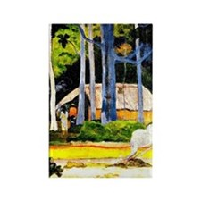 Gauguin - Cabin under the Trees Rectangle Magnet