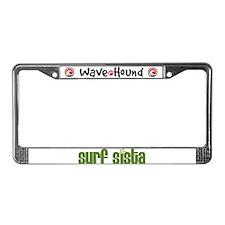 Surf Sista License Plate Frame