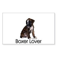 Boxer Puppy Rectangle Decal