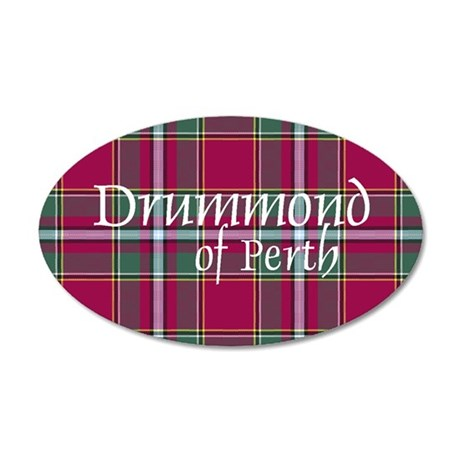 Tartan - Drummond of Perth 20x12 Oval Wall Decal