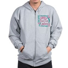 Hereditary Breast Cancer Hope Zip Hoodie