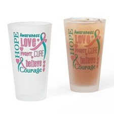 Hereditary Breast Cancer Hope Drinking Glass