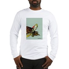 Sassy Red Eared Slider Turtle Long Sleeve T-Shirt