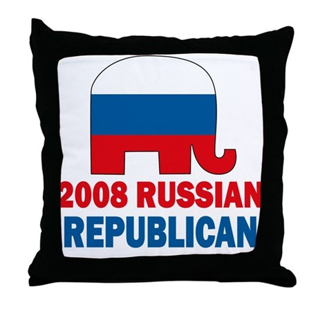 Russian Republican Throw Pillow