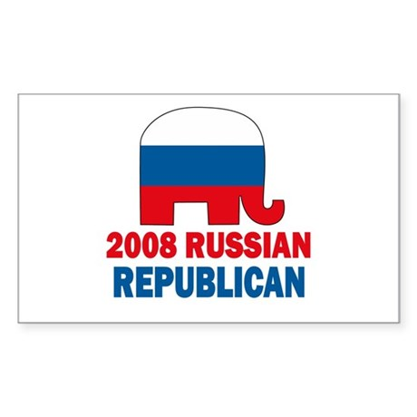 Russian Republican Rectangle Sticker