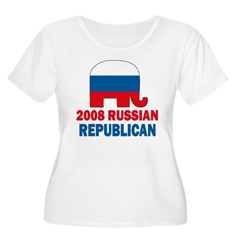 Russian Republican Women's Plus Size Scoop Neck T-