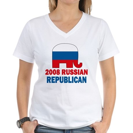 Russian Republican Women's V-Neck T-Shirt
