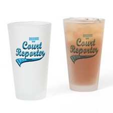 Court reporter Drinking Glass