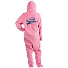 Court reporter Footed Pajamas