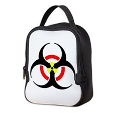 Radioactive Biohazard Red Yello Neoprene Lunch Bag