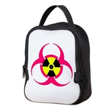 Pink-Radioactive-Bio-Hazard Neo Neoprene Lunch Bag